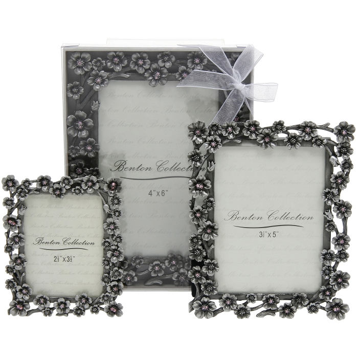 pretty cherry blossom design pewter frame with sparkly pink jewels to fit 35x5 photo frame 55x6 special offer
